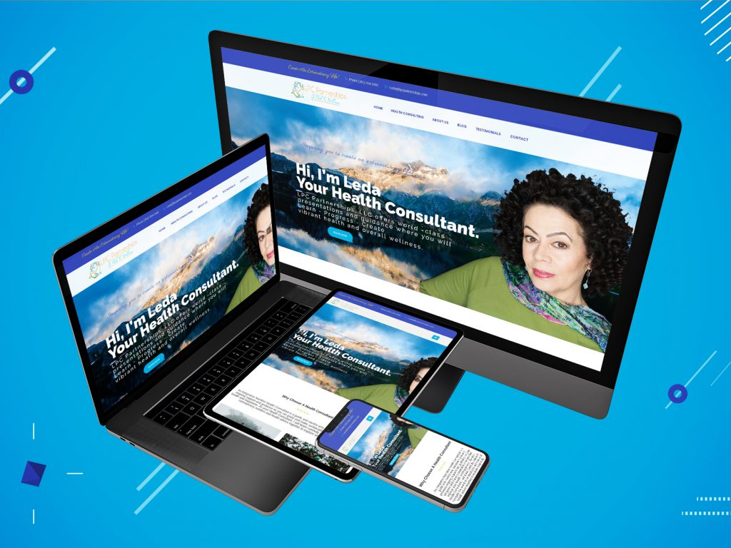 Responsive display of website on all platforms